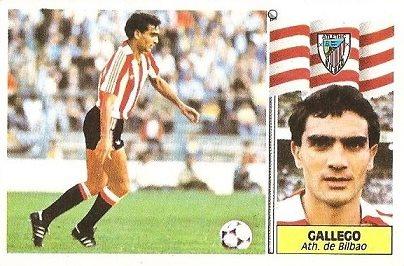 Liga 86-87. Gallego (Ath. Bilbao). Ediciones Este.
