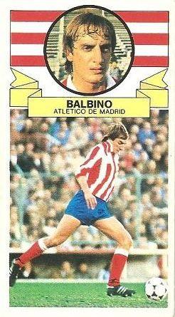 Liga 85-86. Balbino (Atlético de Madrid). Ediciones Este.