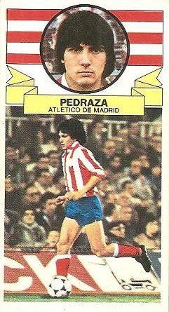 Liga 85-86. Pedraza (Atlético de Madrid). Ediciones Este.