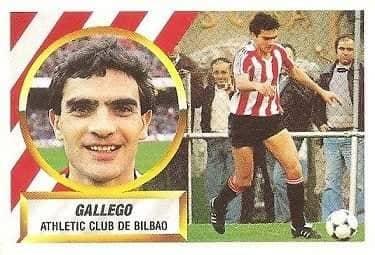 Liga 88-89. Gallego (Ath. Bilbao). Ediciones Este.