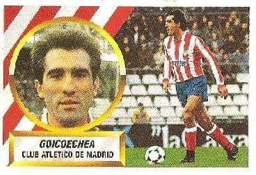 Liga 88-89. Goicoechea (Atlético de Madrid). Ediciones Este.