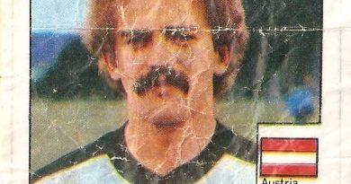 Super Cromos Los Mejores del Mundo. (1981). Prohaska (Austria). Chicle Fútbol Boomer.
