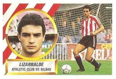 Liga 88-89. Lizarralde (Ath. Bilbao). Ediciones Este.