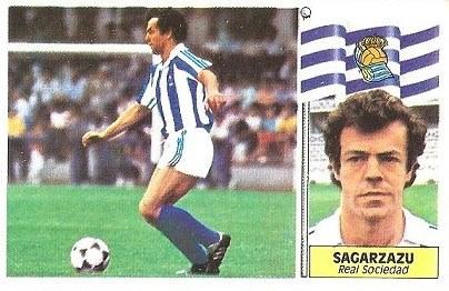 Liga 86-87. Sagarzazu (Real Sociedad). Ediciones Este.