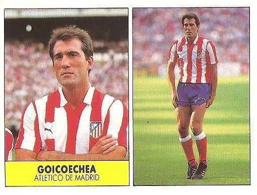 Liga 87-88. Goicoechea (Atlético de Madrid). Ediciones Festival.