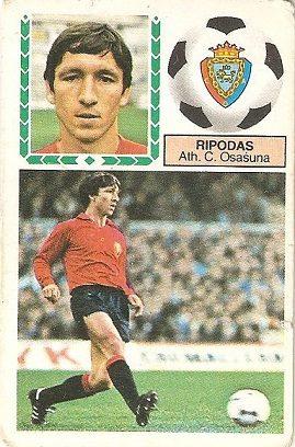 Liga 83-84. Rípodas (Club Atlético Osasuna). Ediciones Este.