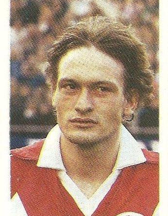 Eurocopa 1984. Elkjaer (Dinamarca) Editorial Fans Colección.