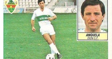 Liga 84-85. Anquela (Elche C.F.). Ediciones Este.