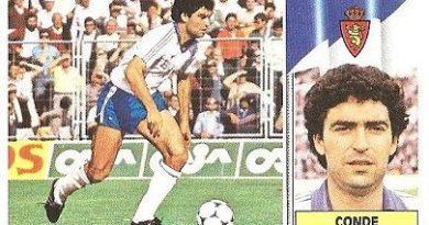 Liga 86-87. Conde (Real Zaragoza). Ediciones Este.