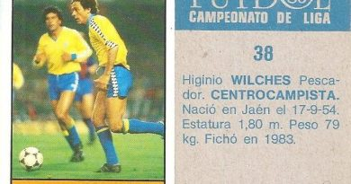 Fútbol 85-86. Campeonato de Liga. Vilches (Cádiz C.F.). Editorial Lisel.