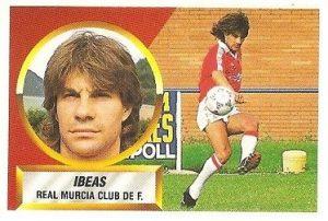 Liga 88-89. Ibeas (Real Murcia). Ediciones Este.