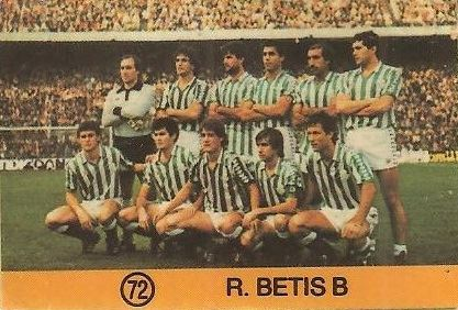 1983-84 Super Campeones. Alineación Real Betis (Real Betis). (Ediciones Gol)
