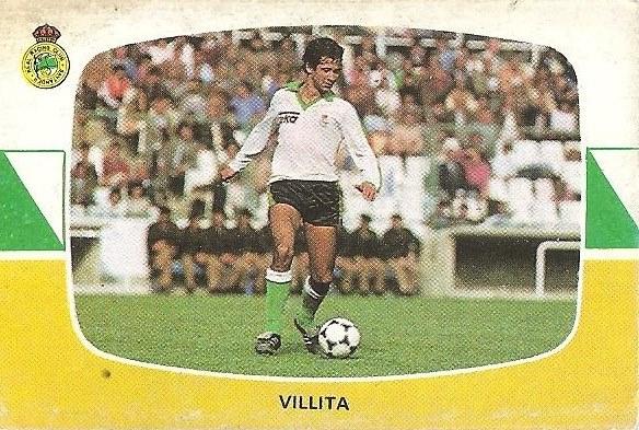 Liga 84-85. Villita (Racing de Santander). Cromos Cano.