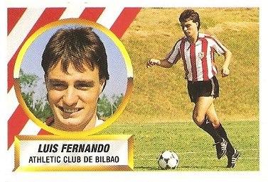 Liga 88-89. Luis Fernando (Ath. Bilbao). Ediciones Este.