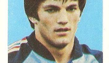 Eurocopa 1984. Gudelj (Yugoslavia). Editorial Fans Colección.