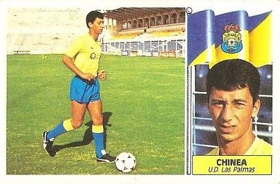 Liga 86-87. Chinea (U.D. Las Palmas). Ediciones Este.