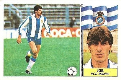 Liga 86-87. Job (R.C.D. Español). Ediciones Este.