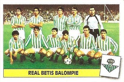 Liga 86-87. Alineación Real Betis (Real Betis). Ediciones Este.