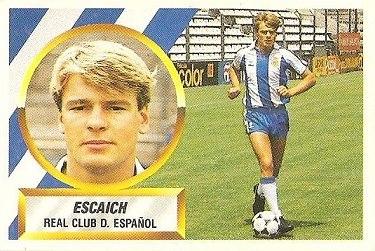 Liga 88-89. Escaich (R.C.D. Español). Ediciones Este.