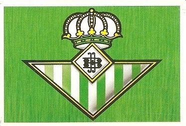Liga 88-89. Escudo Real Betis (Real Betis). Ediciones Este.