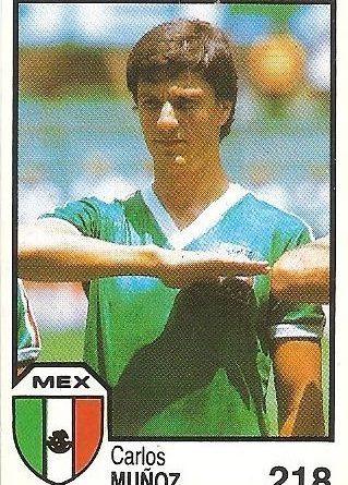 México 86. Muñoz (México) Cromos Barna.