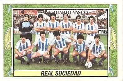 Liga 84-85. Real Sociedad. Ediciones Este.