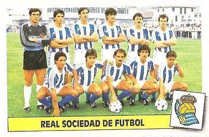 Liga 86-87. Real Sociedad. Ediciones Este.
