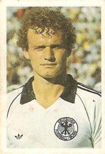Eurocopa 1984. Briegel (Alemania Federal) Editorial Fans Colección.