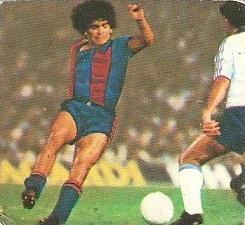 Liga 82-83. Fichaje Nº 6 Maradona (F.C. Barcelona). Ediciones Este.
