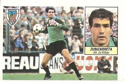 Liga 84-85. Zubizarreta (Ath. Bilbao). Ediciones Este.