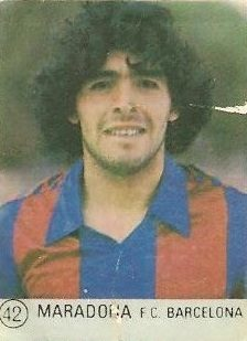 1983 Selección de Fútbol Liga Española. Maradona (F.C. Barcelona).Editorial Mateo Mirete.