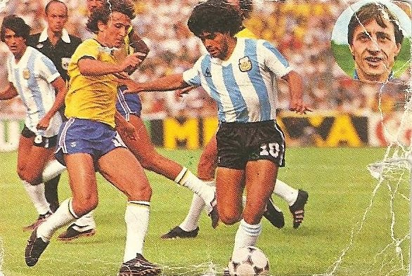 Aprende a jugar con Johan Cruyff. 1984. Maradona (Argentina). Geprodesa.