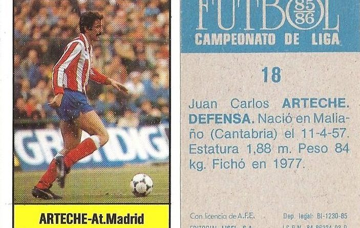 Fútbol 85-86. Campeonato de Liga. Editorial Lisel.