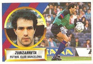 Liga 88-89. Zubizarreta (F.C. Barcelona). Ediciones Este.