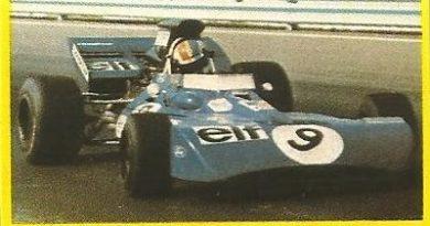 Grand Prix Ford 1982. François Cevert (Tyrrell). Editorial Danone.