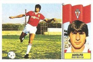 Liga 86-87. Adolfo (Real Murcia). Ediciones Este.