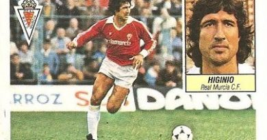 Liga 84-85. Higinio (Real Murcia). Ediciones Este.