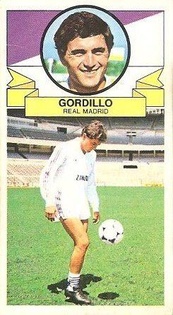 Liga 85-86. Gordillo (Real Madrid) Ediciones Este.