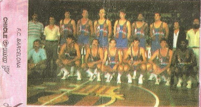 Liga Baloncesto 1985-1986. Chicle Gumtar.