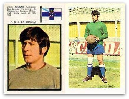 Liga 71-72. Aguilar (Deportivo de La Coruña). Editorial Fher.