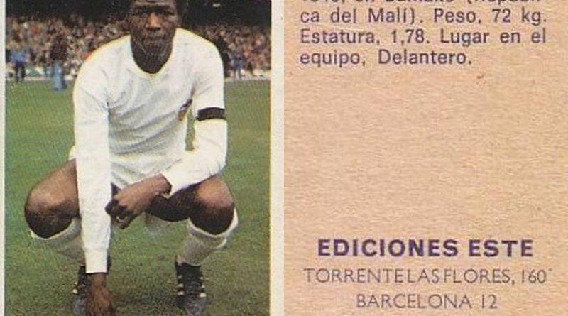 Campeonato de Liga 1974-75. Salif Keita. Ediciones Este y Chicles Sanber. 📸 Grupo de Facebook Nuestros álbumes de cromos.