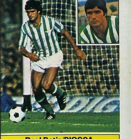 Liga 81-82. Biosca (Real Betis). Ediciones Este. 📸 Grupo de Facebook Nuestros álbumes de cromos.