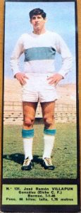 Liga 1967/68. Los futbolistas uno a uno. Villapún (Elche CF). El Alcázar. 📸: Begoña Villapún.