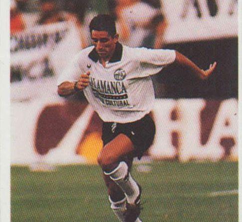 Las fichas de la Liga 95-96. Jandri (UD Salamanca). Editorial Mundicromo. 📸 Grupo de Facebook Nuestros álbumes de cromos.