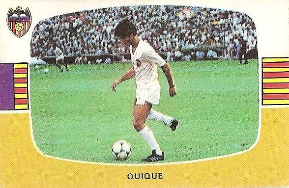 Liga 84-85. Fichaje Nº 11 B Quique (Valencia C.F.). Cromos Cano.