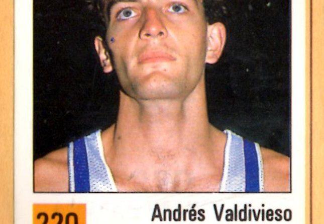 Basket 90 ACB. Andrés Valdivieso (Tenerife Número 1). Ediciones Panini. 📸 Grupo de Facebook Nuestros álbumes de cromos.