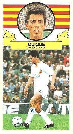 Liga 85-86. Quique (Valencia C.F.). Ediciones Este.