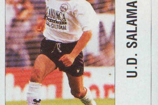 Liga 95-96. Jandri (UD Salamanca). Ediciones Panini. 📸 Grupo de Facebook Nuestros álbumes de cromos.