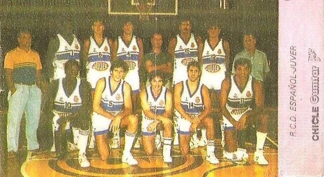 Liga Baloncesto 1985-1986. RCD Español (RCD Español). Chicle Gumtar.
