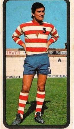 """Liga 1974/75. Aguirre Suárez (Granada CF). Editorial Ruiz Romero. 📸: Grupo de Facebook """"Nuestros álbumes de cromos""""."""